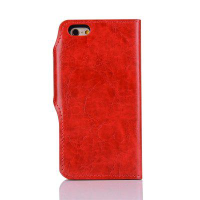 PU Leather Wallet Case 2 in 1 Removable Shell Magnetic Flip Cover for iPhone 6 Plus / 6S Plus wallet leather protective case for iphone 6s plus 6 plus feather pattern