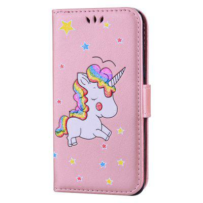Cute Unicorn PU Leather Wallet Flip Protective Case Cover with Card Slots and Stand for Samsung Galaxy J5 2016