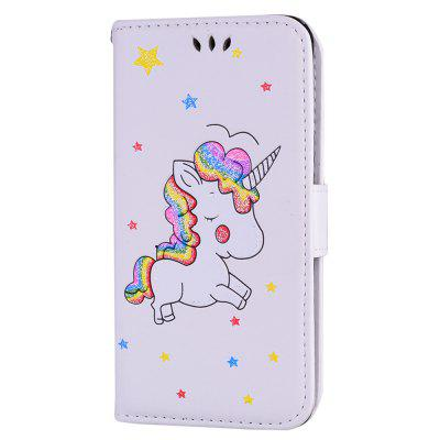 Cute Unicorn PU Leather Wallet Flip Protective Case Cover with Card Slots and Stand for Samsung Galaxy A5 2016