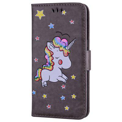 Cute Unicorn PU Leather Wallet Flip Protective Case Cover with Card Slots and Stand for Samsung Galaxy A5 2017