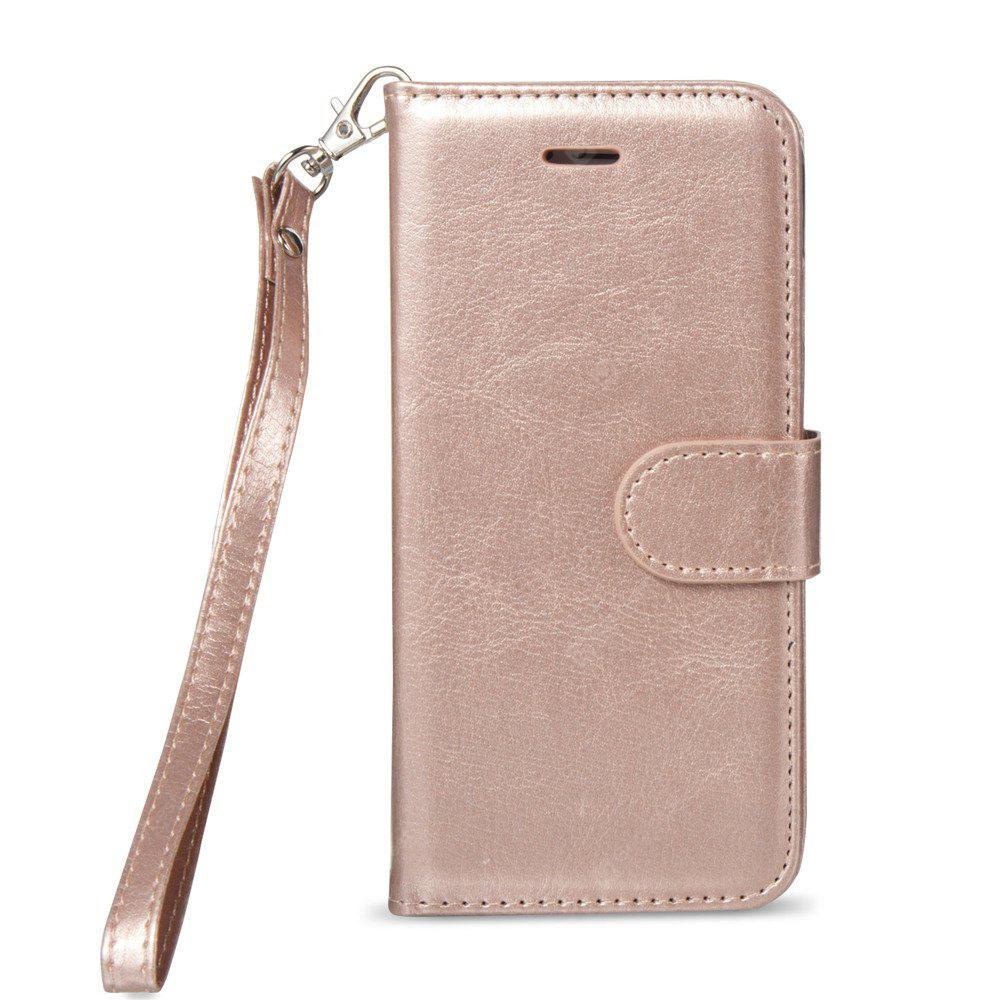 Premium PU Leather Wallet Case Stand Cover para iPhone 7/8 Rose Gold