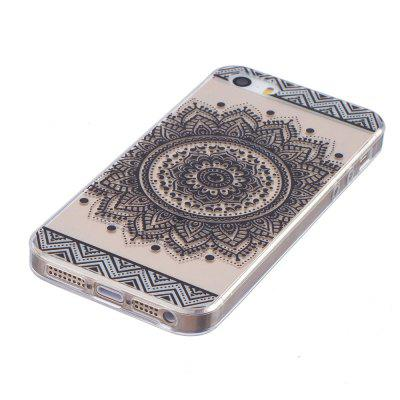 Mandala Pattern TPU Silicone Gel Soft Clear Case Cover for iPhone 5 / 5S / SE for iphone se 5s 5 double sided matte tpu cover case black