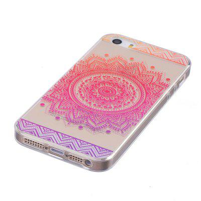 Mandala Pattern TPU Silicone Gel Soft Clear Case Cover for iPhone 5 / 5S / SE patterned imd gel tpu cover for iphone se 5s 5 tribal dream catcher