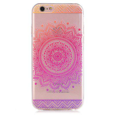 Custodia morbida trasparente in silicone per TPU Mandala Pattern per iPhone 6 6S