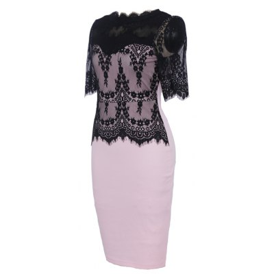 Hot Sale New Style Fashion Lace Party Parthwork Sexy Half Sleeve Pencil DressWomens Dresses<br>Hot Sale New Style Fashion Lace Party Parthwork Sexy Half Sleeve Pencil Dress<br><br>Dresses Length: Knee-Length<br>Elasticity: Elastic<br>Embellishment: Spliced<br>Fabric Type: Worsted<br>Material: Polyester, Lace, Cotton, Spandex<br>Neckline: Stand<br>Occasion: Prom, Evening, Cocktail &amp; Party, Day, Work<br>Package Contents: 1 x Dress<br>Pattern Type: Patchwork<br>Season: Spring, Summer<br>Silhouette: Straight<br>Sleeve Length: Half Sleeves<br>Style: Work<br>Weight: 0.3300kg<br>With Belt: No