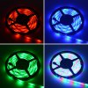 HML 2pcs x 5M Waterproof 24W RGB 2835 SMD 300 LED Strip Light with IR 24 Keys Remote Control+ DC Adapter(US Plug) - RGB