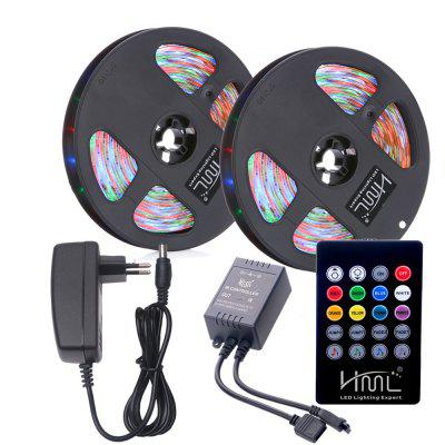 Hml 2pcs 5m waterproof 24w rgb smd2835 300 led strip light rgb hml 2pcs 5m waterproof 24w rgb smd2835 300 led strip light rgb color with ir aloadofball Gallery