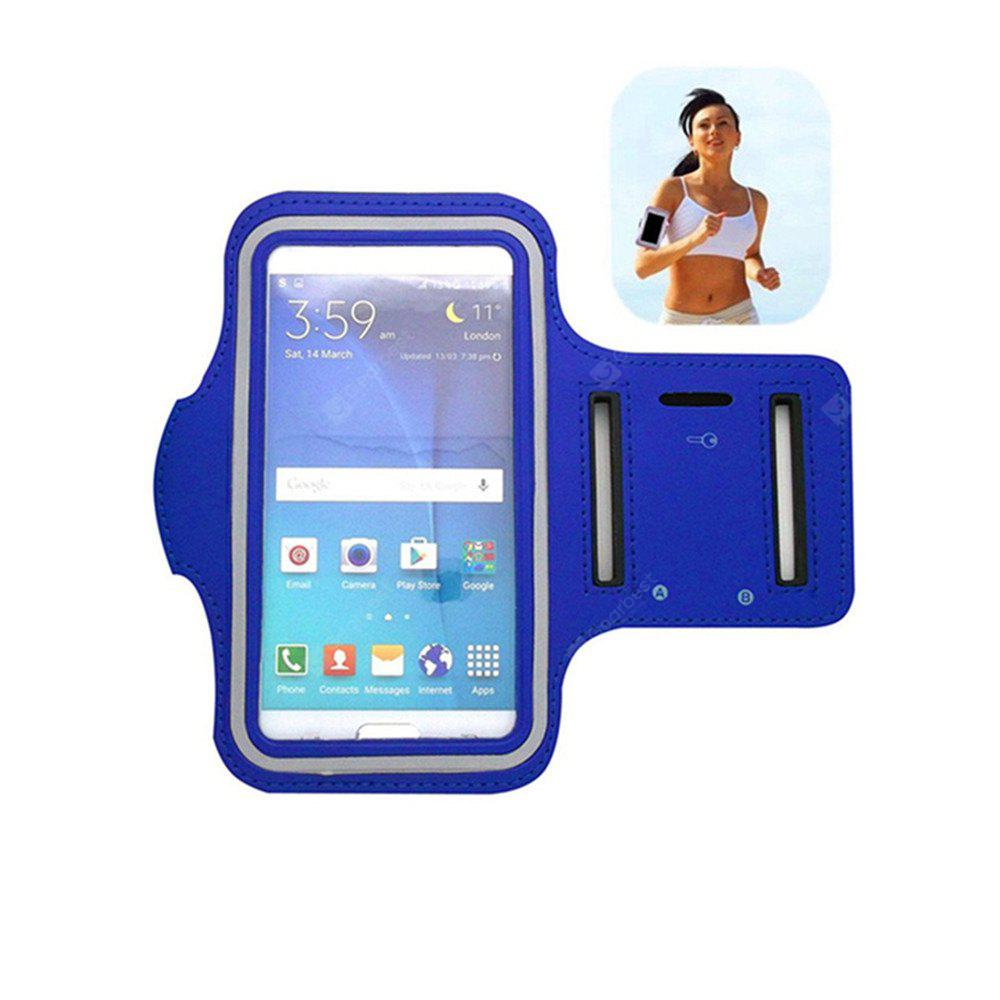 Caso de la cubierta del doble agujero Yeshold Quality Sports Arm para iPhone 7 Plus Blue