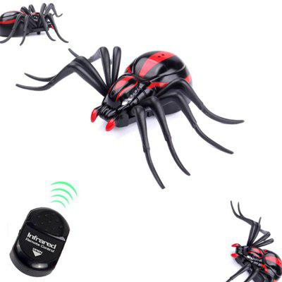 Infrared Remote Control Realistic Mock Fake Spider RC Toy Prank Insects Joke Scary Trick Bugs for Party  infrared remote control tarantula with light trick toy