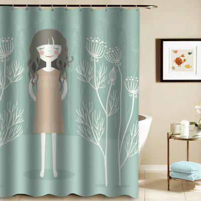 Shower Curtain Mouldproof Waterproof Toilet  Bathroom Partition 20
