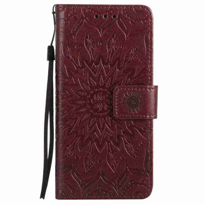Embossed Sun Flower PU TPU Phone Case for HUAWEI P9