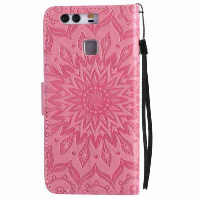 Embossed Sun Flower PU TPU Phone Case for HUAWEI P9Cases &amp; Leather<br>Embossed Sun Flower PU TPU Phone Case for HUAWEI P9<br><br>Features: Full Body Cases, Cases with Stand, With Credit Card Holder, With Lanyard, Anti-knock, Dirt-resistant<br>Mainly Compatible with: HUAWEI<br>Material: TPU, PU Leather<br>Package Contents: 1 x Phone Case<br>Package size (L x W x H): 15.10 x 7.90 x 1.80 cm / 5.94 x 3.11 x 0.71 inches<br>Package weight: 0.0620 kg<br>Product weight: 0.0610 kg<br>Style: Novelty, Pattern, Solid Color