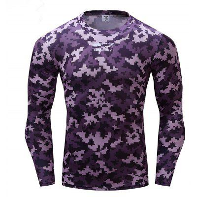 Fashion Trend Long Sleeve Tight Top Speed Dry T-shirt