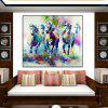 Watercolor Style Frameless Oil Painting for Home Wall Decoration - COLORFUL