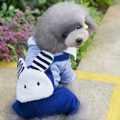 Lovoyager B14 Pet Clothes Cute Rabbit Jeans Dog Dresses Winter Poodle Chihuahua Coat