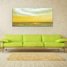 YHHP Hand Painted Wall Art Abstract Steppe Canvas Oil Painting for Home Decoration