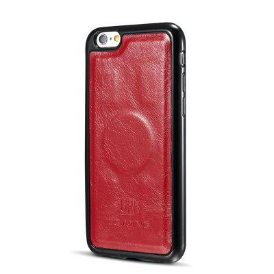 DG.MING Microfiber Genuine Leather 2 in 1 Stand Case for iPhone 6 Plus / 6s Plus icarer wallet genuine leather phone stand cover for iphone 6s plus 6 plus marsh camouflage