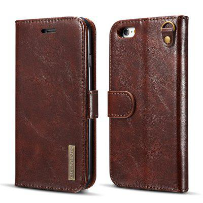 DG.MING Microfiber Genuine Leather 2 in 1 Stand Case for iPhone 6 Plus / 6s Plus