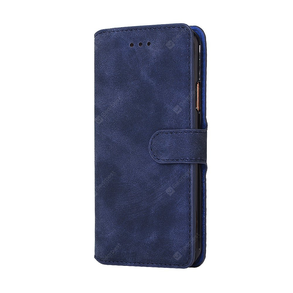 Crazy Horse Stripes PU Leather Wallet Case for iPhone X
