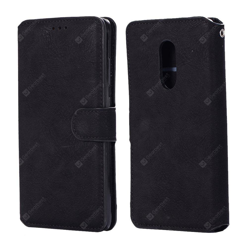 Case for Xiaomi Redmi Note 4X Crazy Horse Stripes PU Leather Wallet Case