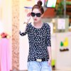 Women's Fashion Floral Wild Slim Long-Sleeved T-Shirt - BLACK