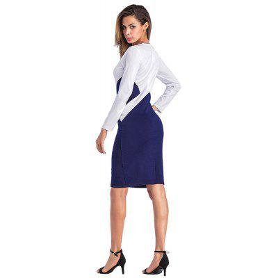 Women Long Sleeved Round Neck Stitching Fashion DressLong Sleeve Dresses<br>Women Long Sleeved Round Neck Stitching Fashion Dress<br><br>Dresses Length: Knee-Length<br>Elasticity: Elastic<br>Fabric Type: Broadcloth<br>Material: Polyester<br>Neckline: Round Collar<br>Package Contents: 1 x Dress<br>Pattern Type: Solid<br>Season: Spring, Fall, Winter<br>Silhouette: Sheath<br>Sleeve Length: Long Sleeves<br>Style: Fashion<br>Weight: 0.3200kg<br>With Belt: No