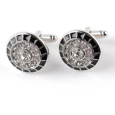 Men's Cufflinks All Match Trend Round Alloy Cuff Buttons Accessory