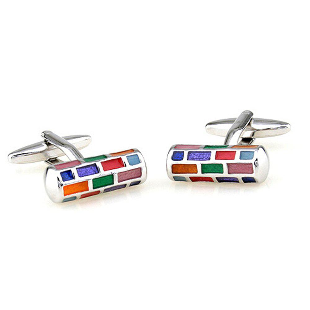 Men's Cufflinks Colorful Chic Cuff Buttons Accessory