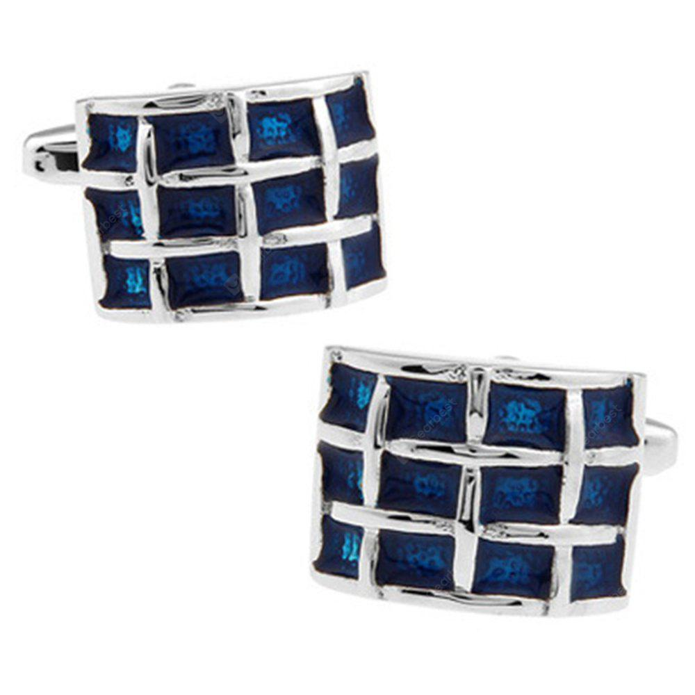 Men's Cuff Buttons Creative Plaid Handsome Stylish Cufflinks Accessory