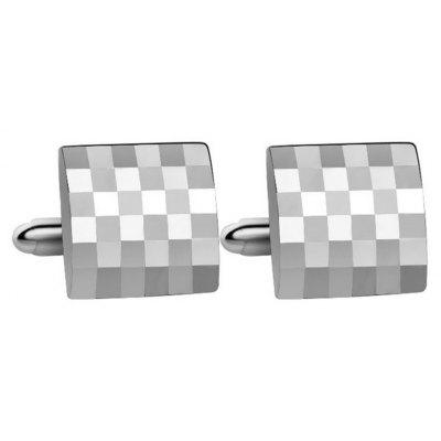 Men's Cufflinks Light Plaid Design Fashion Square Cuff Buttons Accessory