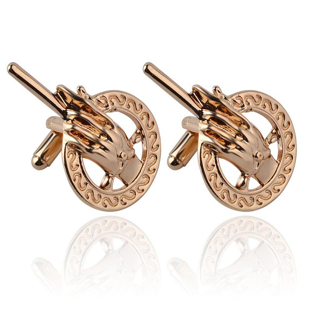 Men's Cufflinks Original Solid Color Palm Shape Cuff Buttons Accessory