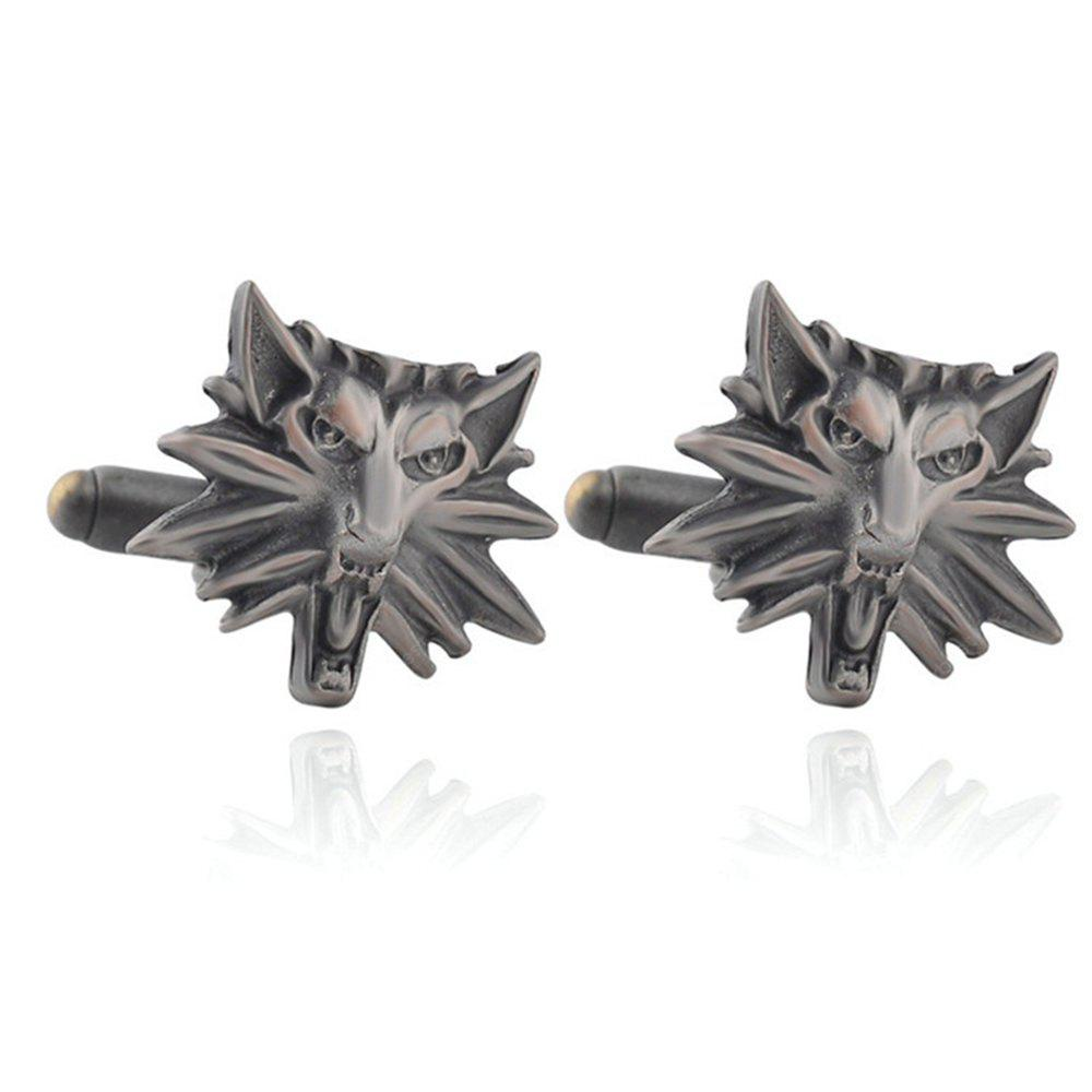 Men's Cufflinks Personality Animal Head Shape Cuff Buttons Accessory