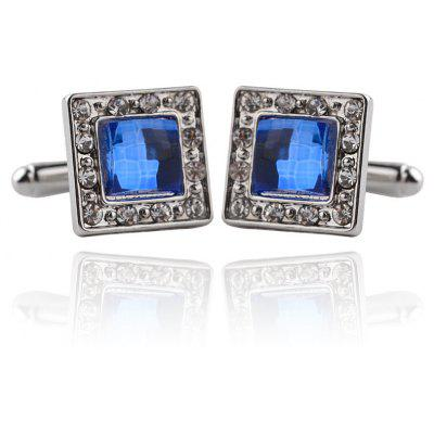 Men's Cufflinks Square Zircon Mosaic Patchwork Color Cuff Buttons Accessory