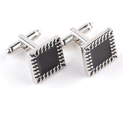Men's Cufflinks Square Patchwork Design Handsome Cuff Buttons Accessory