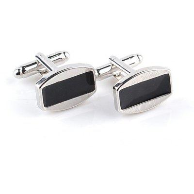 Men's Cufflinks All Match Patchwork Color Chic Cuff Buttons Accessory