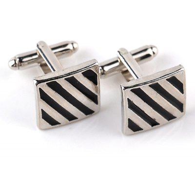 Men's Cufflinks Simple Style Striped Creative Chic Cuff Buttons Accessory