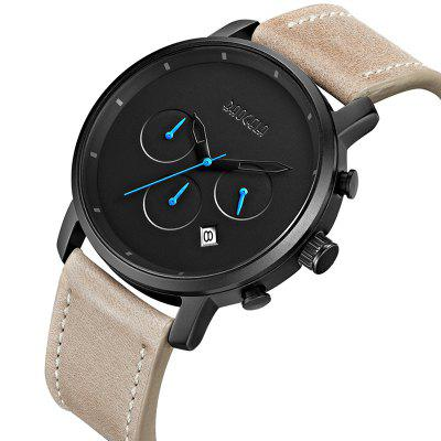 Baogela Water Reaistant Quartz Wristwatch for MenMens Watches<br>Baogela Water Reaistant Quartz Wristwatch for Men<br><br>Available Color: Black,Brown<br>Band material: Leather<br>Band size: 24 x 2.1cm<br>Brand: BAOGELA<br>Case material: Alloy<br>Clasp type: Pin buckle<br>Dial size: 4.2 x 4.2 x 1.1cm<br>Display type: Analog<br>Movement type: Quartz watch<br>Package Contents: 1 x Watch, 1 x WatchBox, 1 x English Manual<br>Package size (L x W x H): 16.30 x 8.00 x 3.20 cm / 6.42 x 3.15 x 1.26 inches<br>Package weight: 0.1472 kg<br>Product size (L x W x H): 24.00 x 4.20 x 1.10 cm / 9.45 x 1.65 x 0.43 inches<br>Product weight: 0.0576 kg<br>Shape of the dial: Round<br>Special features: Day, Decorative sub-dial<br>Watch mirror: Mineral glass<br>Watch style: Casual, Fashion, Outdoor Sports, Retro, Trends in outdoor sports<br>Watches categories: Men<br>Wearable length: 24cm