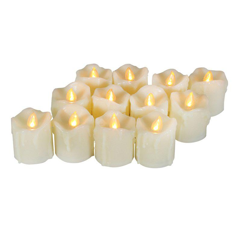 12PCS Realistic Flickering Flameless Candles with Timer