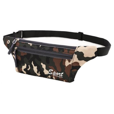Buy Camouflage Black Outdoor Sporting Casual Waist Pack Bag BLACK CAMOUFLAGE for $12.36 in GearBest store