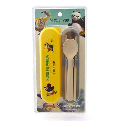 Suncha Portable Student Tableware SetOther Kitchen Accessories<br>Suncha Portable Student Tableware Set<br><br>Material: Wheat Straw<br>Package Contents: 1 x Spoon, 1 x Chopstick<br>Package size (L x W x H): 31.00 x 16.00 x 5.00 cm / 12.2 x 6.3 x 1.97 inches<br>Package weight: 0.1500 kg<br>Product size (L x W x H): 29.00 x 14.00 x 3.00 cm / 11.42 x 5.51 x 1.18 inches<br>Product weight: 0.1450 kg<br>Type: Other Kitchen Accessories