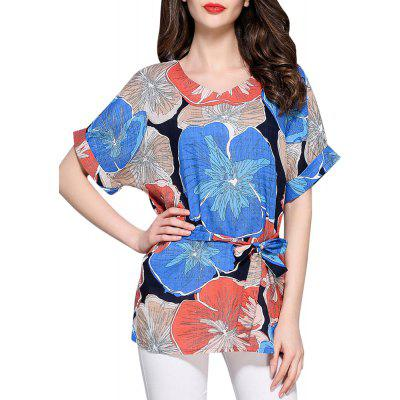 Ethnic boho Print Cotton Casual Blouse for Women Top
