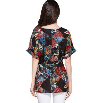 Ethnic boho Print Black Cotton Casual Blouse for Women TopBlouses<br>Ethnic boho Print Black Cotton Casual Blouse for Women Top<br><br>Collar: V-Neck<br>Elasticity: Nonelastic<br>Embellishment: Adjustable Waist<br>Fabric Type: Cotton and kapok hemp<br>Material: Cotton, Cotton Blends, Linen<br>Package Contents: 1 x Blouse<br>Pattern Type: Print<br>Shirt Length: Regular<br>Sleeve Length: Half<br>Style: Ethnic Style<br>Weight: 0.1500kg