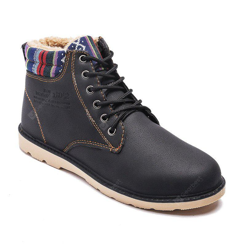 Men's Style with Velvet High  Snow Boots