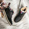 Men's Style with Velvet High  Snow Boots - BLACK