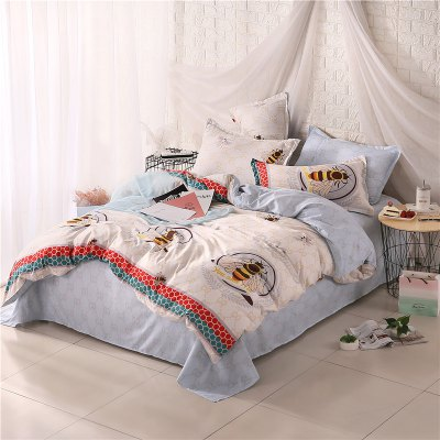 Weina Bee Baby Pattern Bedding SetBedding Sets<br>Weina Bee Baby Pattern Bedding Set<br><br>Brand: weina<br>Category: Bedding Set<br>For: All<br>Material: Cotton Linen<br>Occasion: Bedroom<br>Package Contents: 1 x Quilt Cover, 1 x Bed Sheet, 2 x Pillowcase<br>Package size (L x W x H): 50.00 x 40.00 x 5.00 cm / 19.69 x 15.75 x 1.97 inches<br>Package weight: 1.6000 kg<br>Product weight: 1.5000 kg