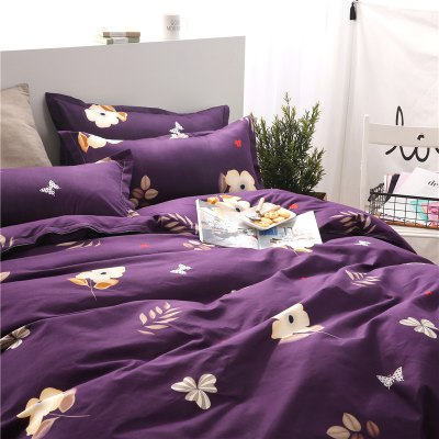 Weina Floral and Smiling Designs Bedding SetBedding Sets<br>Weina Floral and Smiling Designs Bedding Set<br><br>Brand: weina<br>Category: Bedding Set<br>For: All<br>Material: Cotton Linen<br>Occasion: Bedroom<br>Package Contents: 1 x Quilt Cover, 1 x Bed Sheet, 2 x Pillowcase<br>Package size (L x W x H): 50.00 x 40.00 x 5.00 cm / 19.69 x 15.75 x 1.97 inches<br>Package weight: 1.6000 kg<br>Product weight: 1.5000 kg