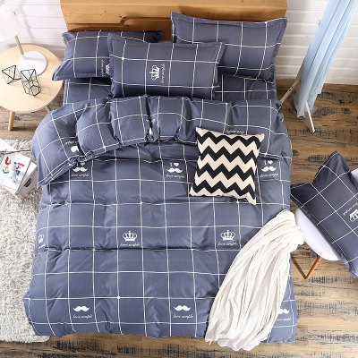 Weina First Met Design Bedding SetBedding Sets<br>Weina First Met Design Bedding Set<br><br>Brand: weina<br>Category: Bedding Set<br>For: Adults<br>Material: Cotton Linen<br>Occasion: Bedroom<br>Package Contents: 1 x Quilt Cover, 1 x Bed Sheet, 2 x Pillowcase<br>Package size (L x W x H): 50.00 x 40.00 x 5.00 cm / 19.69 x 15.75 x 1.97 inches<br>Package weight: 1.6000 kg<br>Product weight: 1.5000 kg