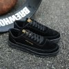 Men Fashion Walking Hip Hop Leisure Shoes Male Breathable Walking Casual Sneakers - BLACK