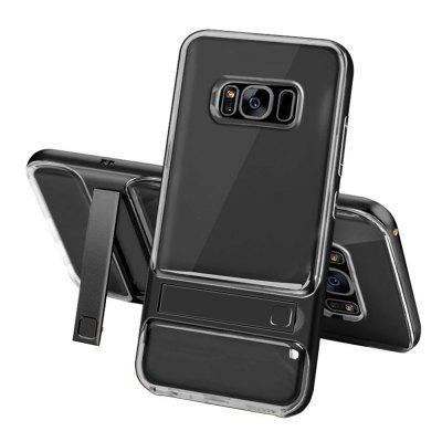 Shockproof with Stand Transparent Back Cover Hard Case for Samsung Galaxy S8