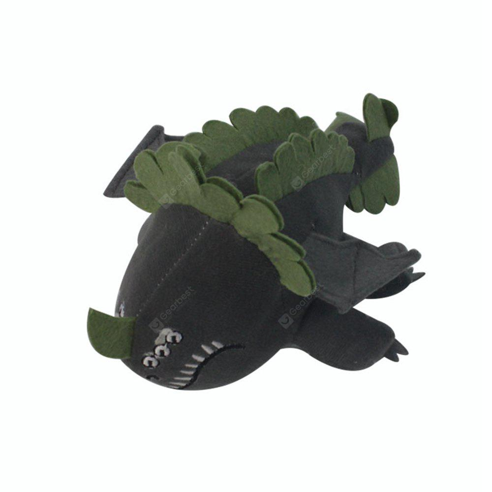 Q Version Gray Dragon Animal Plush Doll Stuffed Toy